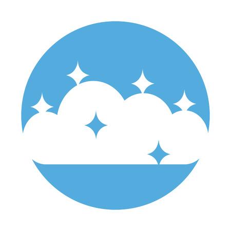 星ベクトル イラスト デザインと曇り空