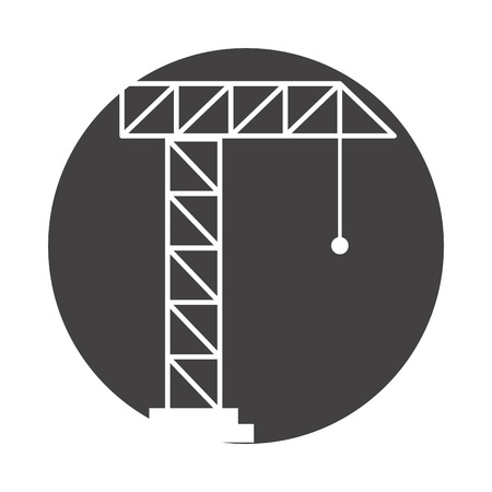 Crane construction isolated icon vector outline illustration design