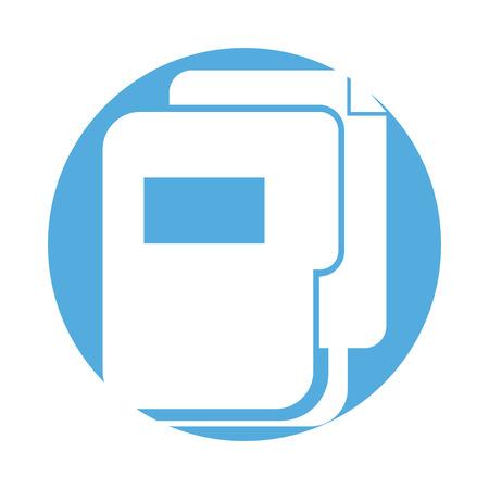 coordinated: Folder document storage isolated icon vector illustration design Illustration