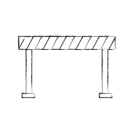 Ontwerp van de het pictogram vectorillustratie van de verkeersheining barrière het geïsoleerde