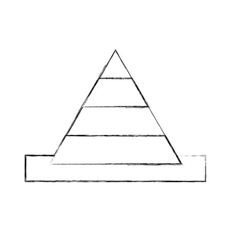 Kegel bouw tekenen geïsoleerd pictogram vector overzicht illustratie ontwerp Stock Illustratie