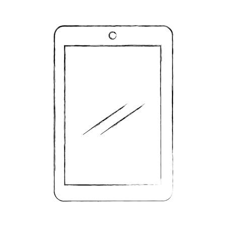 태블릿 장치 격리 된 아이콘 벡터 일러스트 디자인
