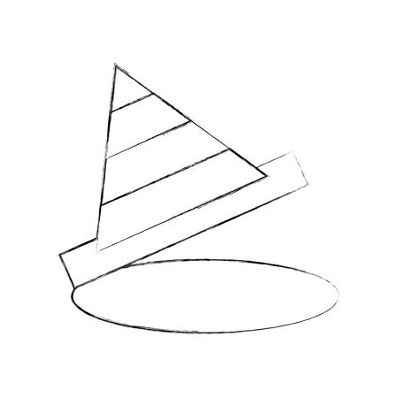 コーン免震建設アイコン ベクトル イラスト デザイン