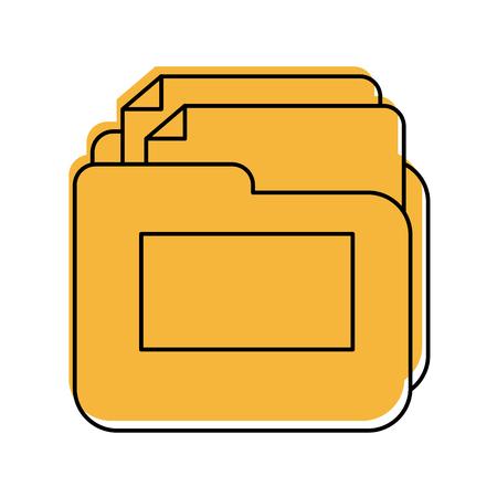 Documento de carpeta icono aislado diseño de ilustración vectorial Foto de archivo - 83036927