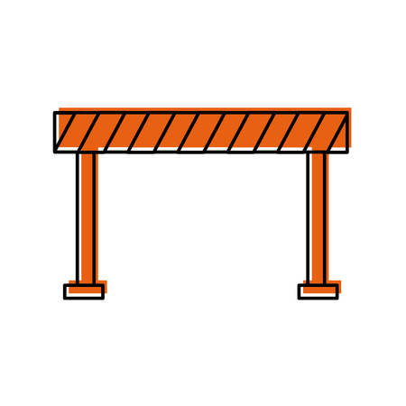 verkeer hek geïsoleerd pictogram vector illustratie ontwerp