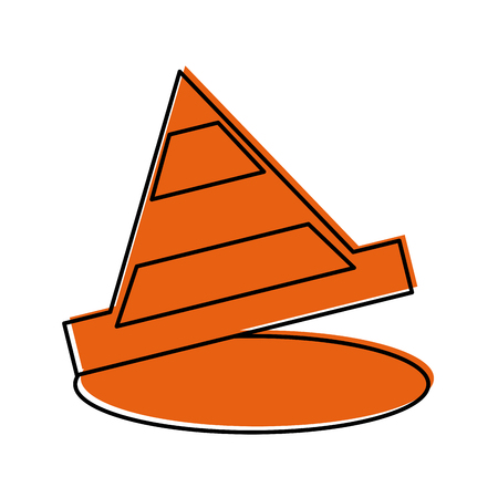 cone construction isolated icon vector illustration design