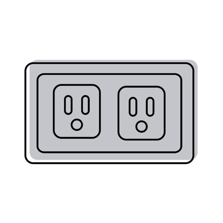 Energy socket isolated icon vector illustration design Banco de Imagens - 82983945