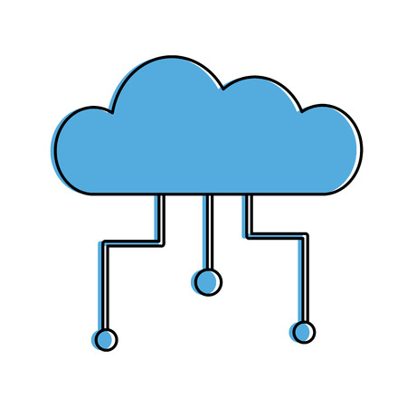 Cloud Computing isoliert Symbol Vektor-Illustration Design Standard-Bild - 82983952