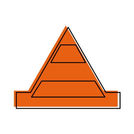 Vector de illustratieontwerp van het kegel bouw geïsoleerd pictogram