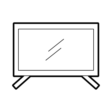 plasma tv isolated icon vector illustration design Illusztráció
