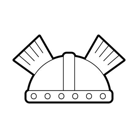 game warrior helmet icon vector illustration design