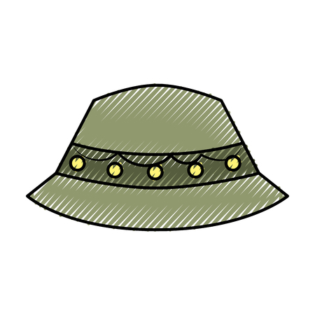 fisher hat isolated icon vector illustration design Ilustrace