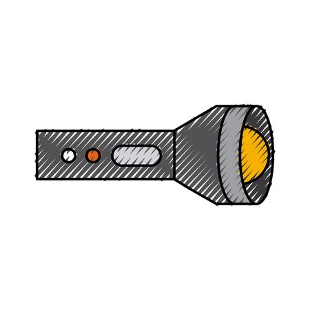 flash lantern isolated icon vector illustration design
