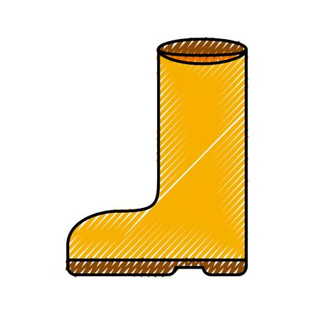 Gummistiefel isoliert Symbol Vektor-Illustration Design Standard-Bild - 82983508