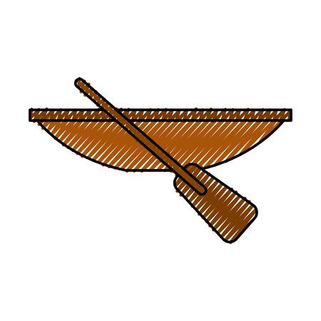 Vissen kano geïsoleerd pictogram vector illustratie ontwerp