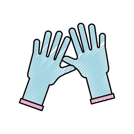 ゴム手袋分離アイコン ベクトル イラスト デザイン