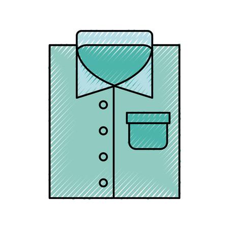 Laundry garments isolated icon vector illustration design Illustration
