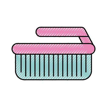 Cepillo de limpieza aislado icono ilustración vectorial diseño Foto de archivo - 82983537