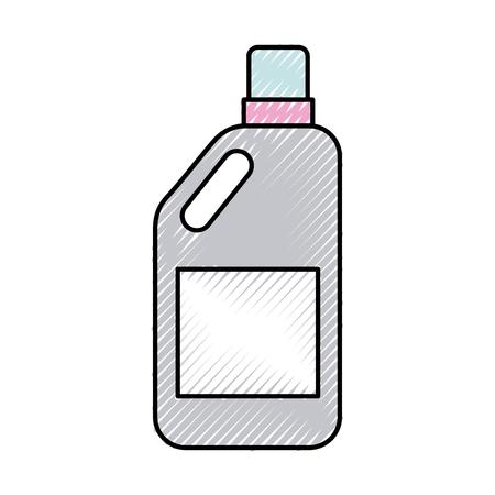 Botella de detergente icono aislado diseño de ilustración vectorial Foto de archivo - 82983548