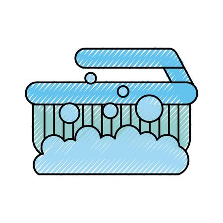 アイコン ベクトル イラスト デザインを分離したクリーニング ブラシ