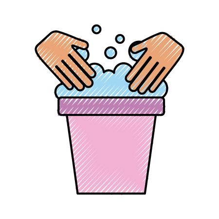 wasemmer met ontwerp van de handen het vectorillustratie