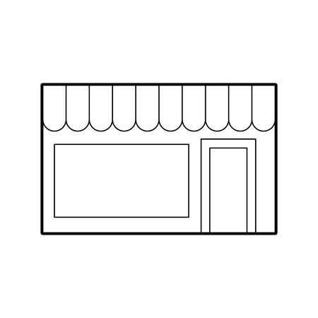 Store building front icon vector illustration design Иллюстрация