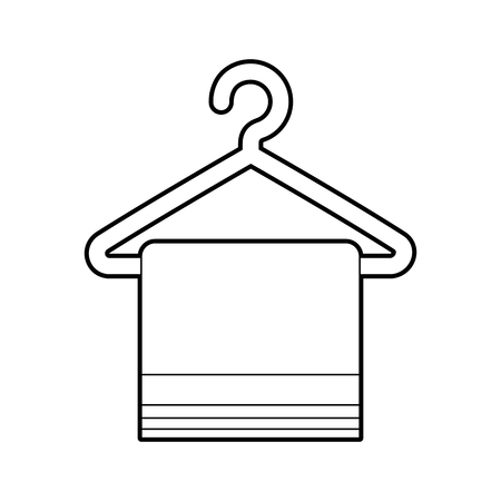 Laundry garments hanging icon vector illustration design Stock fotó - 82983899