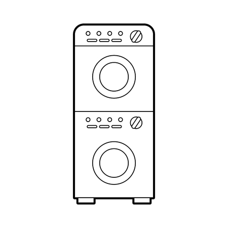 wash machine isolated icon vector illustration design Фото со стока - 82984904