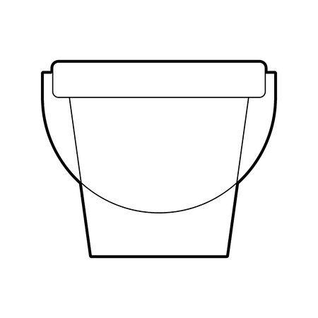 laundry bucket isolated icon vector illustration design