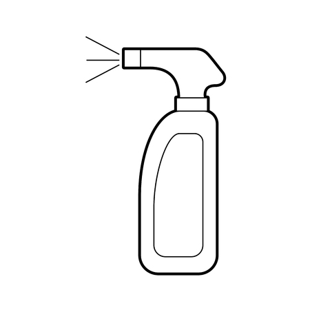 Bottle with sprinkler icon vector illustration design Illusztráció