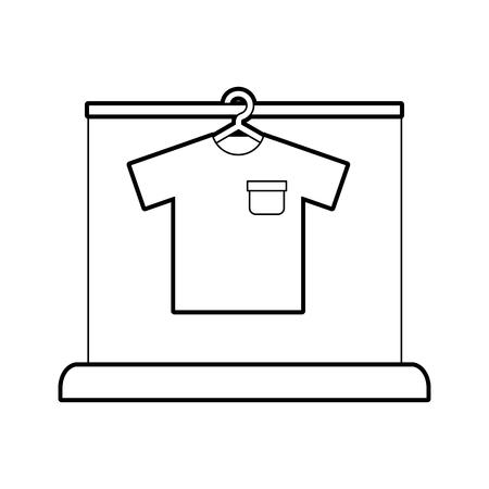 Laundry garments hanging icon vector illustration design