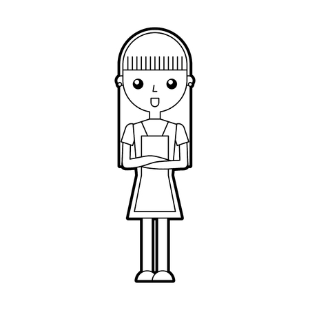 housewife avatar character icon vector illustration design Illustration