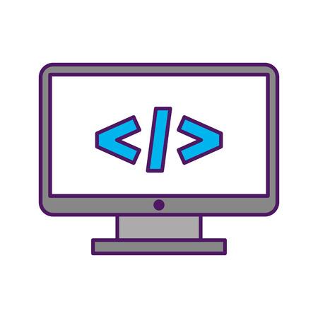 計画言語ベクトル イラスト デザインとコンピューターのデスクトップ  イラスト・ベクター素材