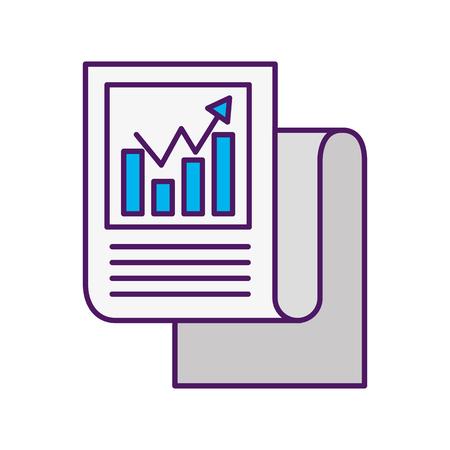 統計レポートのアイコン ベクトル イラスト デザインを分離しました。  イラスト・ベクター素材