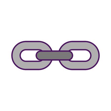 Chain metal isolated icon vector illustration design Illustration