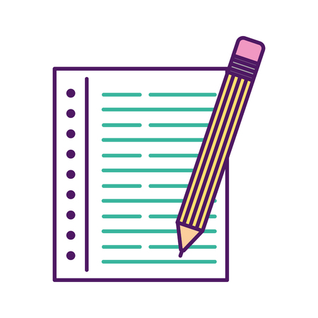 鉛筆ノート ベクトル イラスト デザイン学校