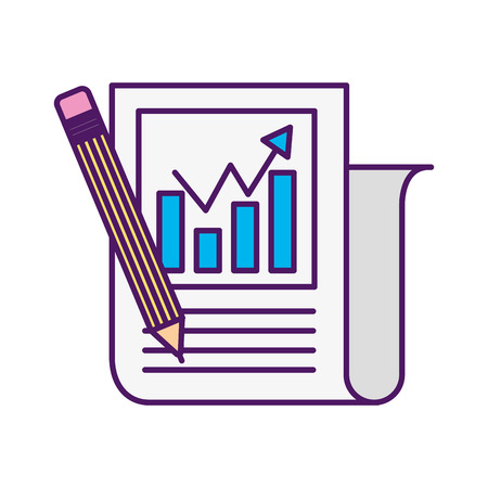 Statistical report isolated icon vector illustration design Stock fotó - 82984545