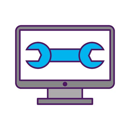 レンチ ベクトル イラスト デザインとコンピューターのデスクトップ 写真素材 - 82984554
