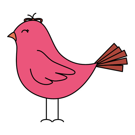 cute bird drawing icon vector illustration design