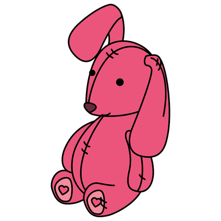 Cute teddy rabbit icon vector illustration design