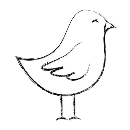 Niedlichen Vogel Zeichnung Symbol Vektor-Illustration Design Standard-Bild - 82987818