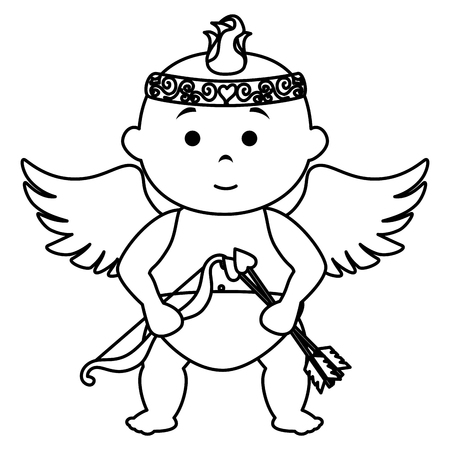 little cupid character card vector illustration design Иллюстрация