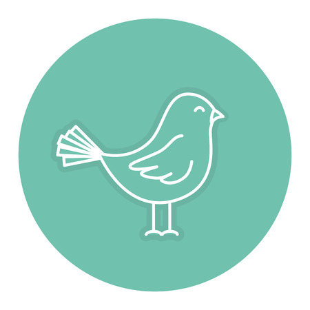 Cute bird drawing isolated icon vector outline illustration design