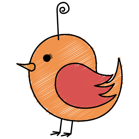 Isolated cute bird drawing icon vector illustration design Illustration