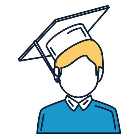 student graduated avatar character vector illustration design Stok Fotoğraf - 82985073