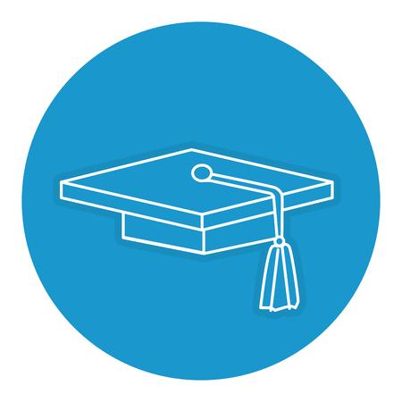 卒業の帽子アイコン ベクトル イラスト デザインを分離しました。 写真素材 - 82990321