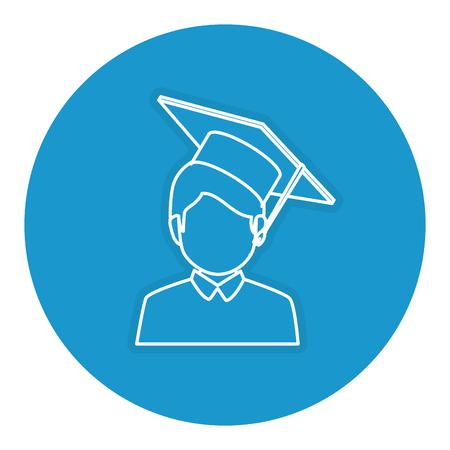 student graduated avatar character vector illustration design Illustration
