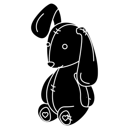 Cute teddy rabbit icon vector illustration design