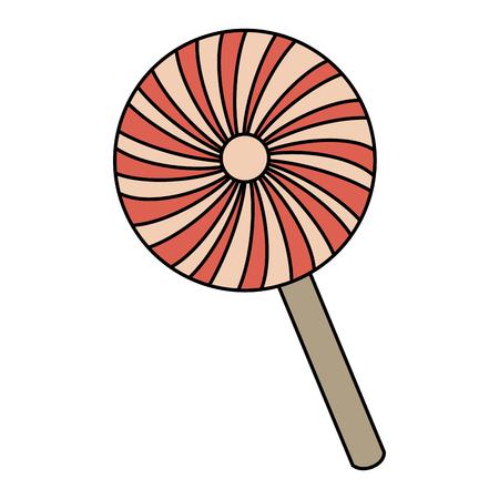 sweet lollipop isolated icon vector illustration design Ilustracja