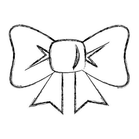 ボー リボン装飾アイコン ベクトル イラスト デザイン